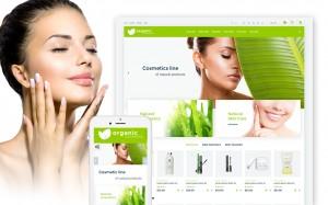 Szablon Organic cosmetics