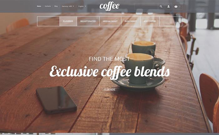 Responsywny szablon PrestaShop na temat: sklep z kawą