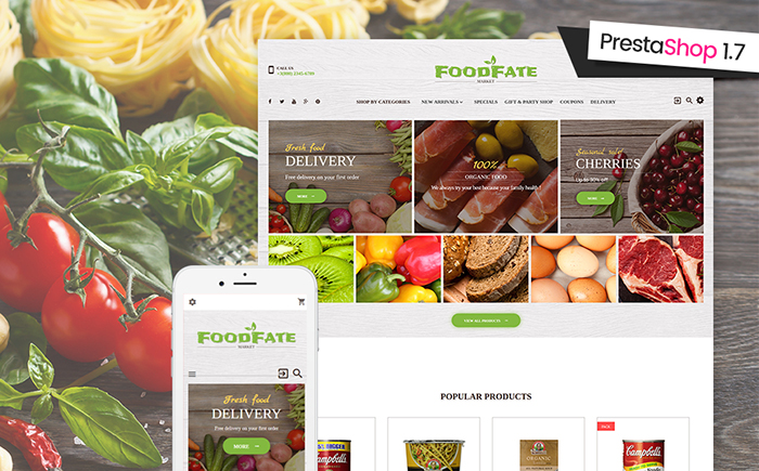 Food Prestashop Theme