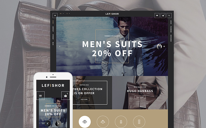 Responsywny szablon PrestaShop Lefishor - Men's Clothes & Accessories