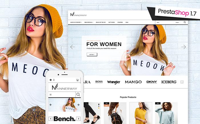 Responsywny szablon PrestaShop na temat: sklep modowy