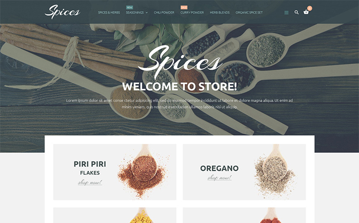 Spices PrestaShop Theme