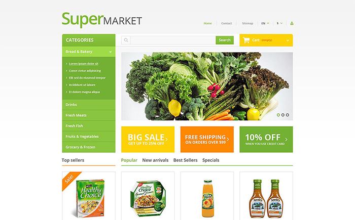 Responsywny szablon PrestaShop Supermarket
