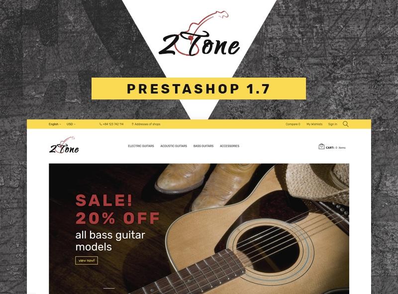 Szablon PrestaShop #67049 na temat: sklep muzyczny