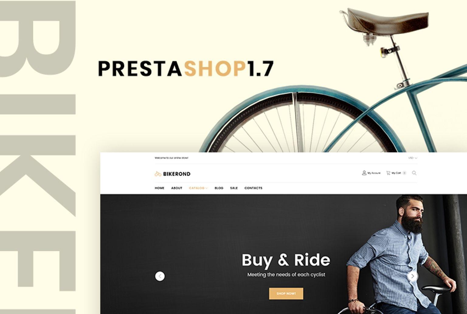 Responsywny szablon PrestaShop #67372 na temat: kolarstwo