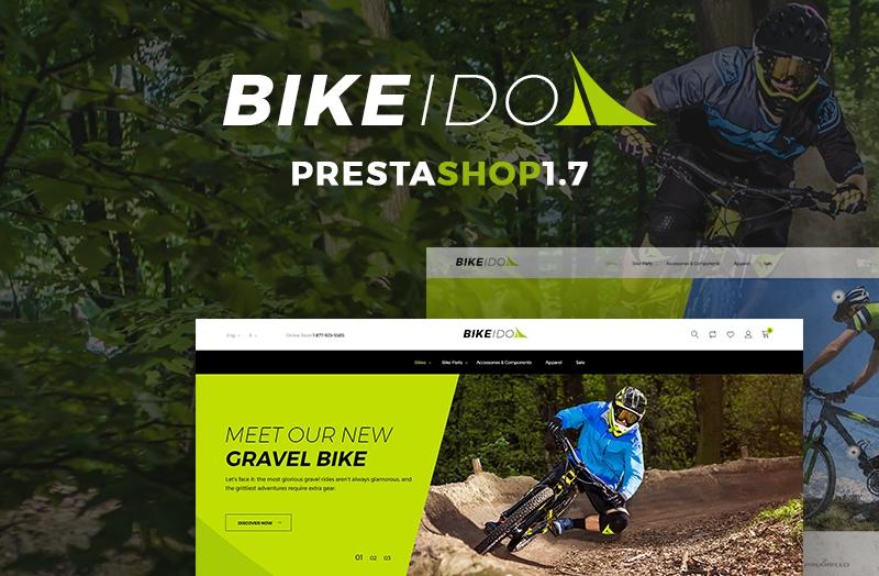Responsywny szablon PrestaShop #68686 na temat: kolarstwo