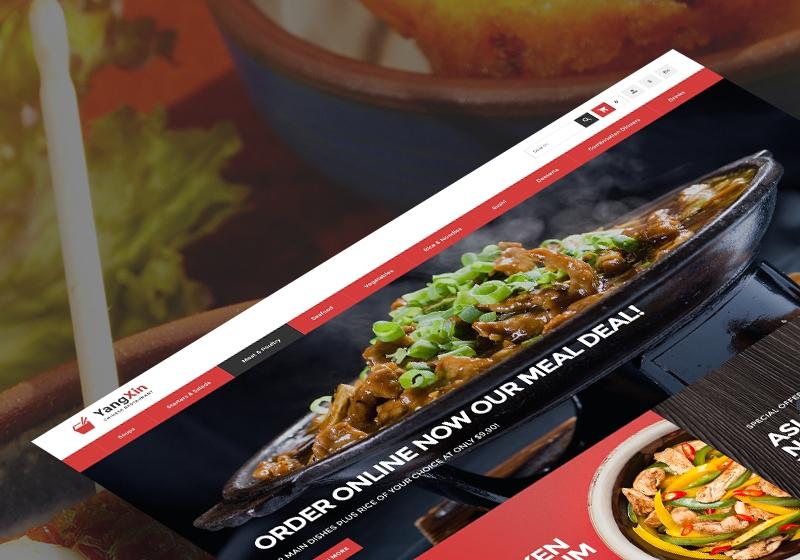 Responsywny szablon PrestaShop #68355 na temat: restauracja chińska