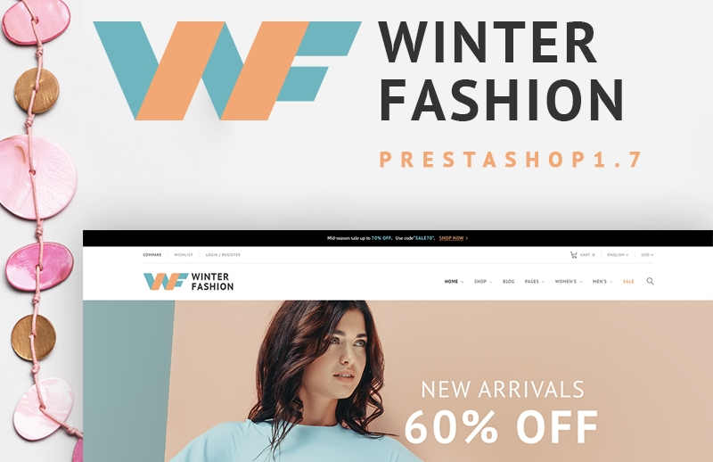Responsywny szablon PrestaShop Winter Fashion - Fashionable Winter Wear