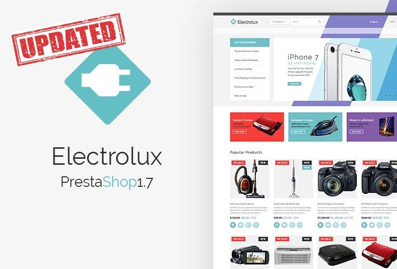 Electrolux - szablon PrestaShop dla e-sklepu elektrycznego