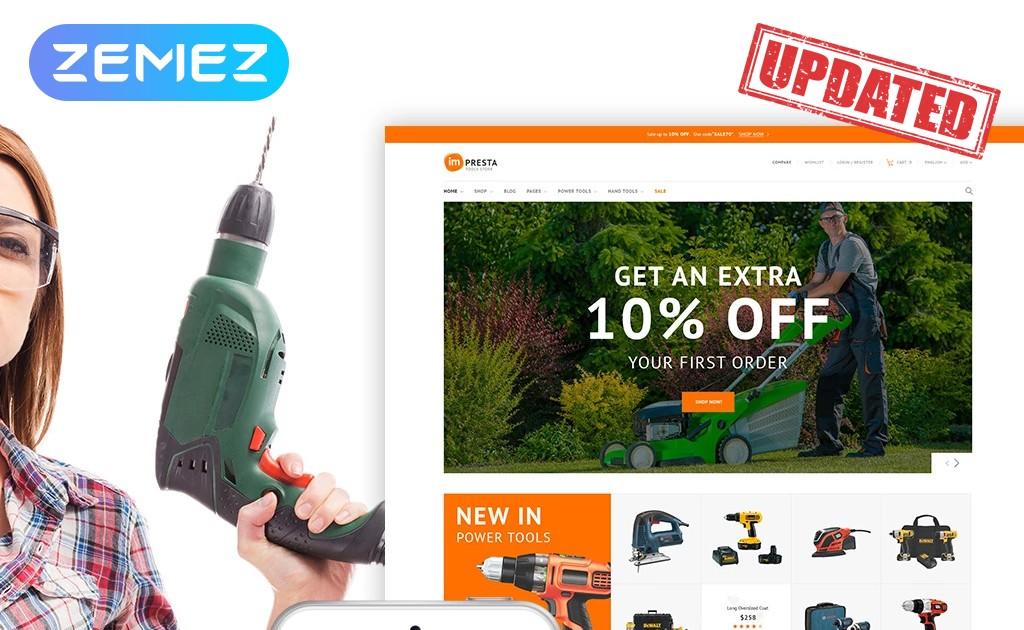 Impresta Tools - szablon PrestaShop dla sklepu z narzędziami