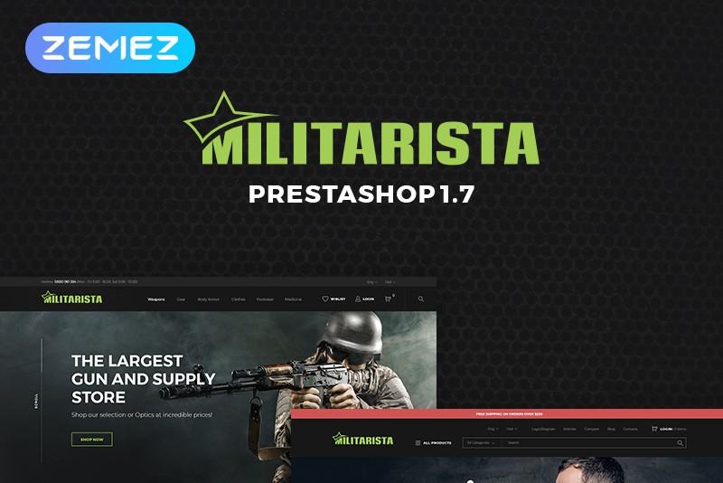 Responsywny szablon PrestaShop Militarista - Weapons Store #69865