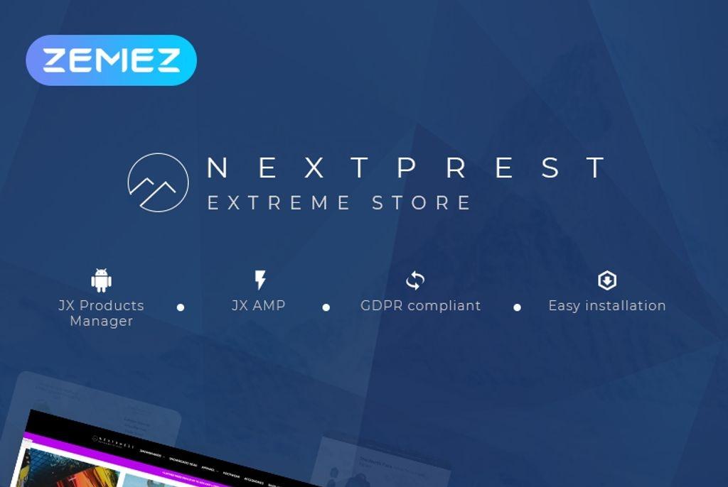 Responsywny szablon PrestaShop Nextprest - Multipurpose Extreme Sports #53088
