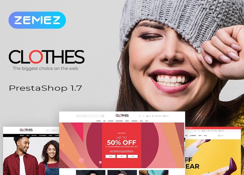 Responsywny szablon PrestaShop Clothes - Apparel Brand Online Template #51868