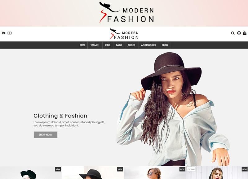 Responsywny szablon PrestaShop Modern Fashion 1.7 #77419