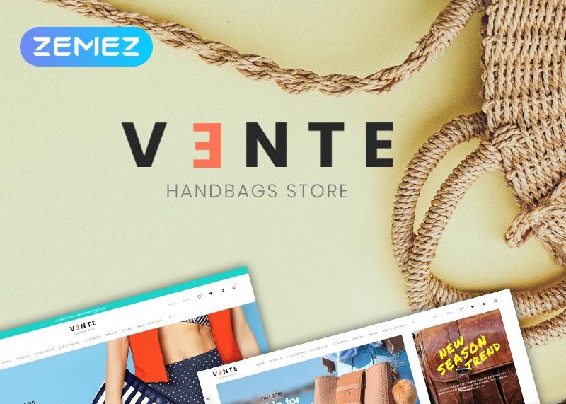 Szablon PrestaShop Vente - Handbag Store Clean Bootstrap Ecommerce #77080