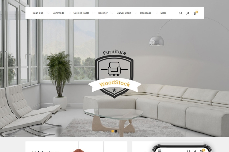 Responsywny szablon PrestaShop WoodStock - Home Decor Store #89683